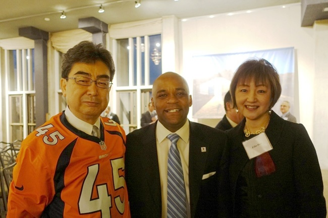 Consul General and Mrs. Ono with Mayor Hancock