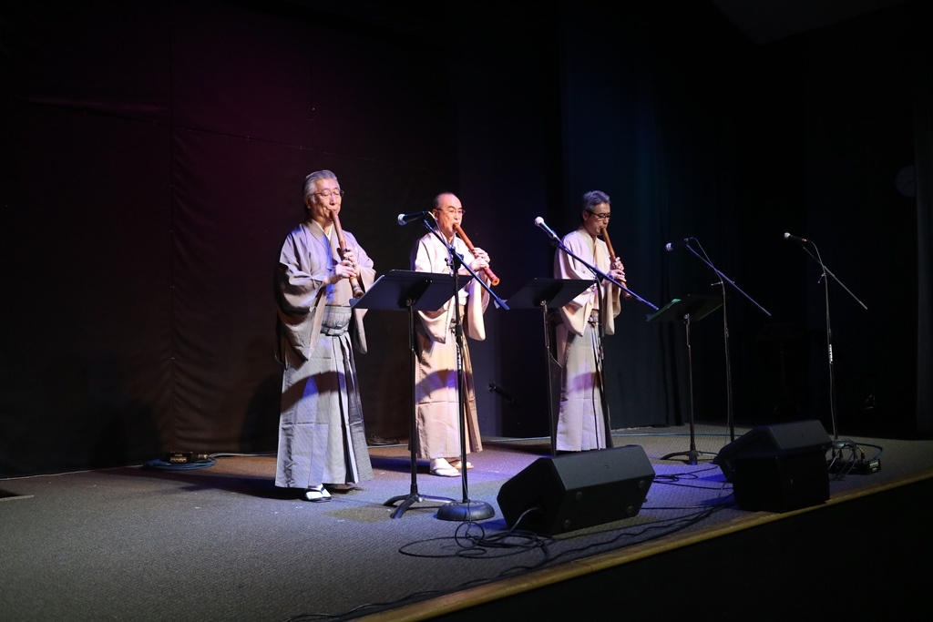 Shakuhachi and koto performance tone colors of autumn for Consul performance