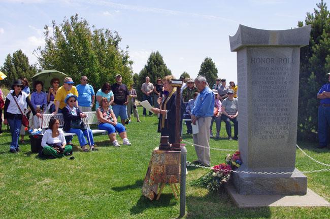 大野総領事夫妻によるアマチ収容所跡地における追悼式への出席 - 在 ...