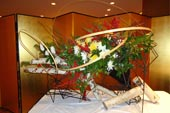 Ikebana by Sogetsu School (Japanese flower arrangement)