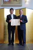 Conferment Ceremony for Commendation of the Consul General upon Mr. Charles Ozaki (May 22, 2014)