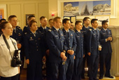 The USAFA Cadet Chorale team performing the American National Anthem
